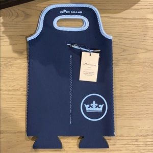 Peter Millar Crown Seal Wine Tote in Navy